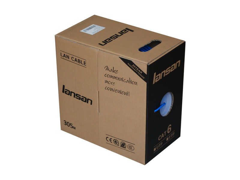 LANSAN CAT6 FULL COPPER UTP 305M LAN CABLE / NETWORK CABLE